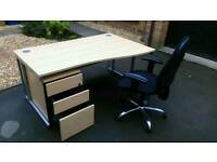 Special deal: Office desk, drawer and new chair!