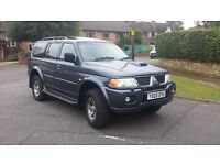 Mitsubishi Shogun sport Equipped 2.5 Turbo Diesel 2005 05 Reg £2275