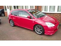 HONDA CIVIC TYPE R EP3 (not vxr, s3, cupra, st, rs, impreza, evo)