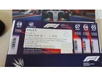 Reserved seat At Stowe A for the British Grand Prix, 5th - 8th July 2018.