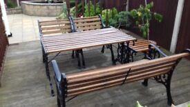 Cast iron garden furniture 5 pieces