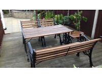 Cast iron garden furniture 5 pieces