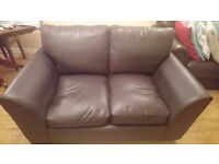 HOME New Alfie Compact 2 Seater Leather Effect Sofa - Choc