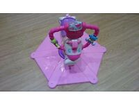 Fisher-Price Pink Bounce and Spin Zebra