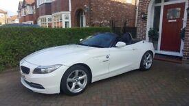 White BMW Z4 convertable - Excellent car!