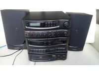 Old Stereo system bush (radio, cassette, cd players)