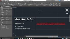 Freelance CAD Draftsperson 2D & 3D (£10.00/hour - no deposit needed)