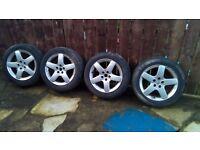 """Peugeot 407 original 17"""" alloy wheels"""
