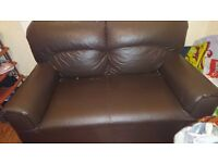 Leather Brown 2 seater SOFA