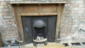 Antique Fireplace with with harth