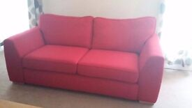 *BRAND NEW* DFS 3 SEATER SOFA in Lushious Red with seat and back cushions