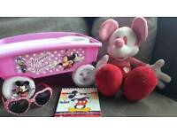 DISNEY MICKEY AND MINNIE MOUSE TOY BUNDLE SOME 'NEW' ITEMS