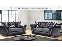 Brand new 3 seater plus 2 seater Tanya fabric sofas