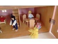Dolls House family and furniture hardly used