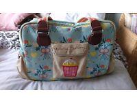 Yummy mummy pink lining changing bag
