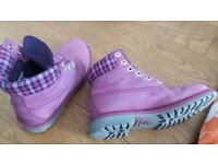 Azalea Pink Women's Timberland Boots UK 6, EU 39.5