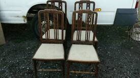 SET OF FOUR EDWARDIAN INLAID CHAIRS