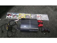 PS3 80gb with 2 controllers and games