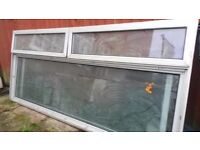 3 x Aluminium Double Glazed Windows with Glass
