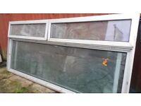 3 x Aluminium Double Glazed Windows with Glass