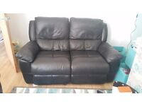 2 seater recliner black