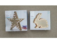 'Next' Feature Lights - Star and Rabbit - Brand New in Box -- 2 available