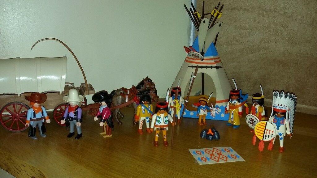 Playmobil Wigwam, Wagon, cowboys and native americans