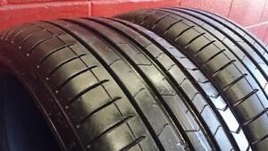 Pair of 2 RUNFLAT ~~~ 245/35R20 Pirelli PZero ~~~ BMW / Mercedes Original ~~~ SUMMER ~~ 95%+tread