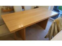 Beech finish Dining table