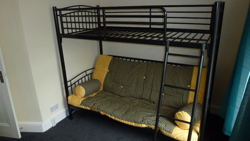 Mika Children S Metal Bunk Bed Futon Settee And Single High Sleeper