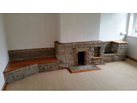 Reclaimed Bricks / Stone From Large Fireplace (Free) Building Blocks Vintage Antique Retro Art Deco
