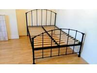 Ikea metal double bed frame in excellent condition and very clean