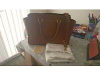 Genuine Michael Kors Large Selma Tan Bag