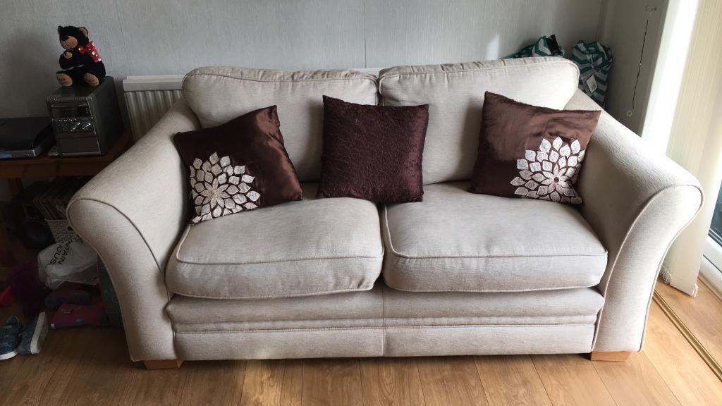 DFS 3 seater sofa in beige