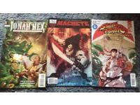 3x comics street fighter, machete, jonah hex