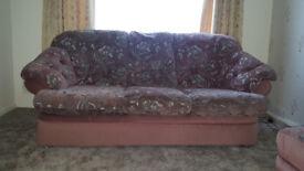 3 Seater sofa, 2 Seather sofa & Footstool