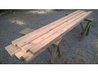 planed timber / wood 95mm x 33mm, ideal for shelves, framing, garden etc