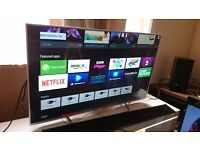 """SONY 43"""" Smart ULTRA SLIM 4K ANDROID LED TV-43X8305,built in Wifi,Freeview HD,EXCELLENT CONDITION"""