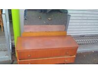 Old dressing table with mirror