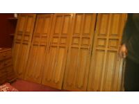 Large solid oak wardrope