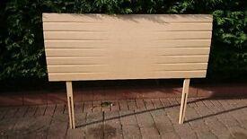Light Wood Double Headboard