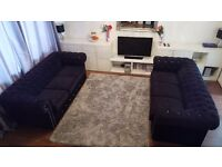 Chesterfield 3 seater sofa x2