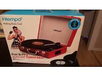 Intempo suitcase turntable Bluetooth mp3 smartphone tablet