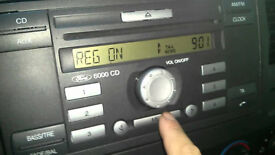 ford 6000 cd player cmax focus mk7 transit with code