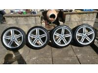 "BMW 18"" M Sport Alloy wheels Genuine"
