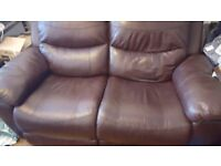 Two 2 seat leather recliners FREE