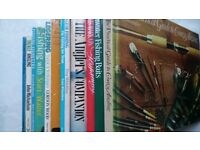 COLLECTION OF FISHING BOOKS X 13,JOB LOT,FLY COARSE TACKLE VIGNETTES LEGER BAITS ALL GOOD