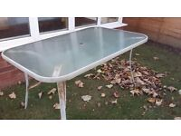 Rectangle patio table