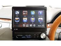 "CAR DVD,DIVX,TV,,PLAYER ,GPS,,ELECTRONIC AUDIO 9"" FLIP SCREEN"