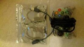 Xbox 360 wired pad with adaptors